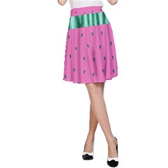 Watermelon A Line Skirt
