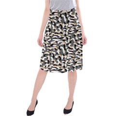 Charcoal Confetti Midi Beach Skirt