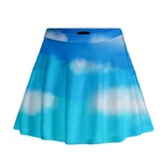 Sky Mini Flare Skirt