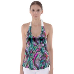 Ocean Jewels Babydoll Tankini Top