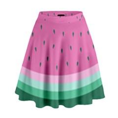 Watermelon High Waist Skirt