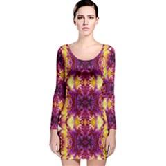 Utah lit0211005001 Long Sleeve Velvet Bodycon Dress