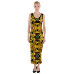 Vermont Lit0210008022 Fitted Maxi Dress
