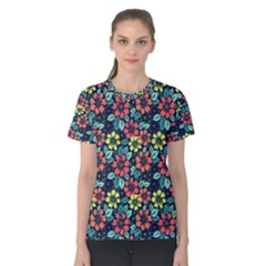 Tropical Flowers Women s Cotton Tee