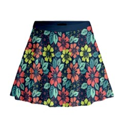 Tropical flowers Mini Flare Skirt