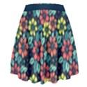 Tropical flowers High Waist Skirt View2