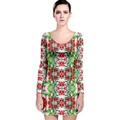 Cleveland Lit1111035011 Long Sleeve Velvet Bodycon Dress