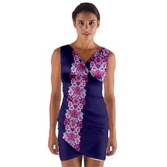 Floral chic Wrap Front Bodycon Dress