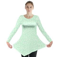 Mint Confetti Long Sleeve Tunic