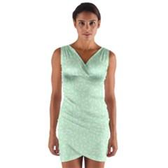 Mint Confetti Wrap Front Bodycon Dress