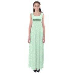 Mint Confetti Empire Waist Maxi Dress