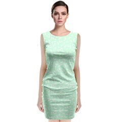 Mint Confetti Classic Sleeveless Midi Dress