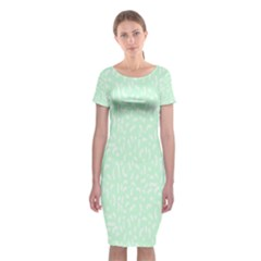 Mint Confetti Classic Short Sleeve Midi Dress