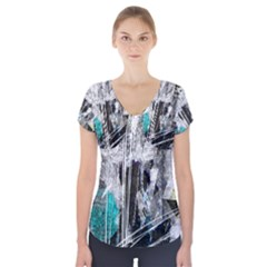 Urban Funk Short Sleeve Front Detail Top