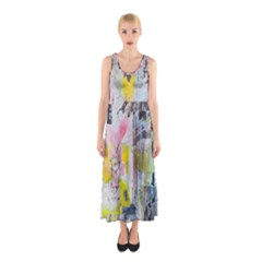 Graffiti Graphic Sleeveless Maxi Dress