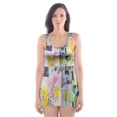 Graffiti Graphic Skater Dress Swimsuit