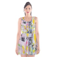 Graffiti Graphic Scoop Neck Skater Dress