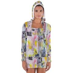 Graffiti Graphic Women s Long Sleeve Hooded T-shirt
