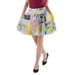 Graffiti Graphic A Line Pocket Skirt