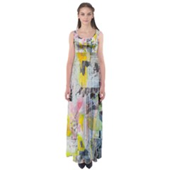 Graffiti Graphic Empire Waist Maxi Dress