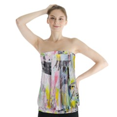 Graffiti Graphic Strapless Top