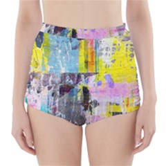 Graffiti Pop High Waisted Bikini Bottoms