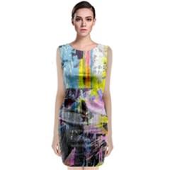 Graffiti Pop Classic Sleeveless Midi Dress