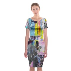 Graffiti Pop Classic Short Sleeve Midi Dress