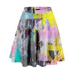 Graffiti Pop High Waist Skirt