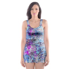 Graffiti Splatter Skater Dress Swimsuit
