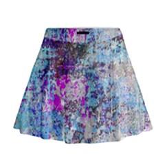 Graffiti Splatter Mini Flare Skirt