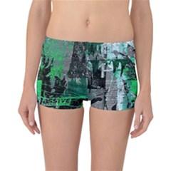 Green Urban Graffiti Reversible Boyleg Bikini Bottoms