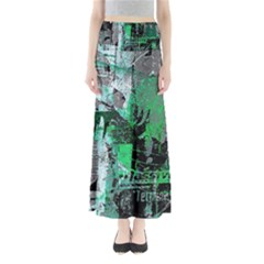 Green Urban Graffiti Maxi Skirts
