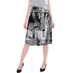 Urban Graffiti Midi Beach Skirt