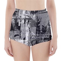 Urban Graffiti High Waisted Bikini Bottoms