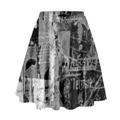 Urban Graffiti High Waist Skirt