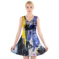 Urban Grunge V-Neck Sleeveless Skater Dress