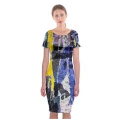 Urban Grunge Classic Short Sleeve Midi Dress