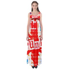 Punk Union Jack Empire Waist Maxi Dress