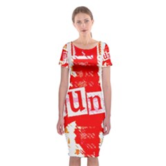 Punk Union Jack Classic Short Sleeve Midi Dress