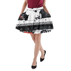 Punk Chick A-Line Pocket Skirt