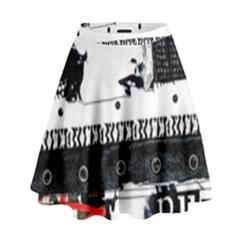 Punk Chick High Waist Skirt