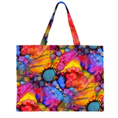 Rainbow Bursts Alcohol Inks Large Tote Bag