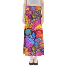 Rainbow Bursts Alcohol Inks Maxi Skirts
