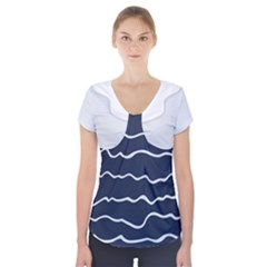 sailor Short Sleeve Front Detail Top