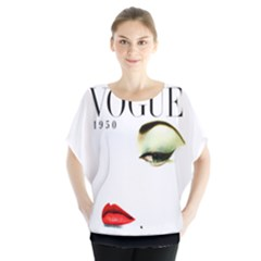 Vogue1950 Batwing Blouse Batwing Chiffon Blouse