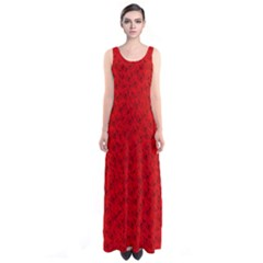 Red Roses Sleeveless Maxi Dress