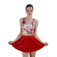 Red Roses Mini Skirt