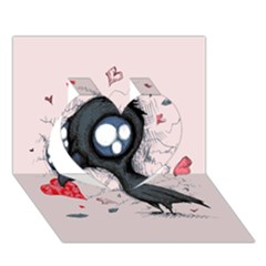 Baby Crow  Heart 3D Greeting Card (7x5)