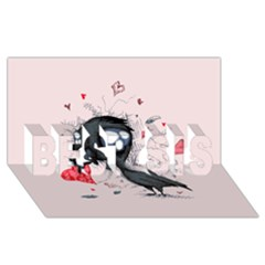 Baby Crow  BEST SIS 3D Greeting Card (8x4)